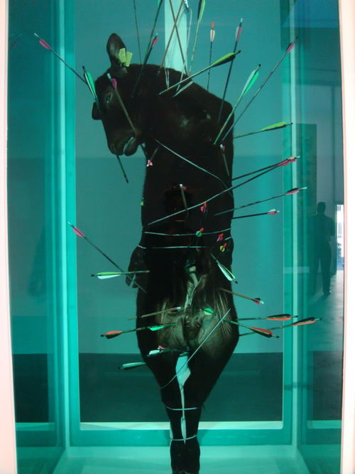 """Damien Hirst's """"St. Sebastian, Exquisite Pain"""""""