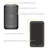 . its lightweight and the ribbed back of the Macally mSuit iPod Touch case .