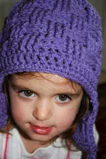 The Crochet Shack: Toddler Basketweave Earflap Hat