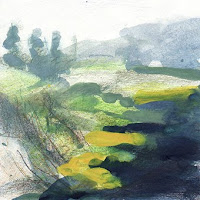 Col des Aravis étude IIa gouache paysage landscape