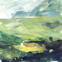 Col des Aravis étude IIc gouache paysage landscape
