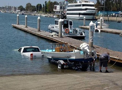Failure to grasp the concept of the boat launch