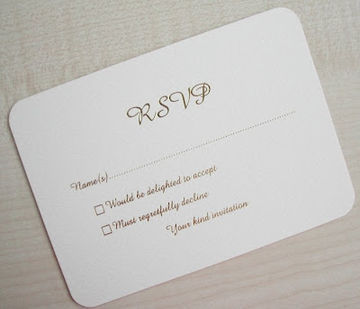 Weddings the Joys and Jitters What is the meaning of RSVP