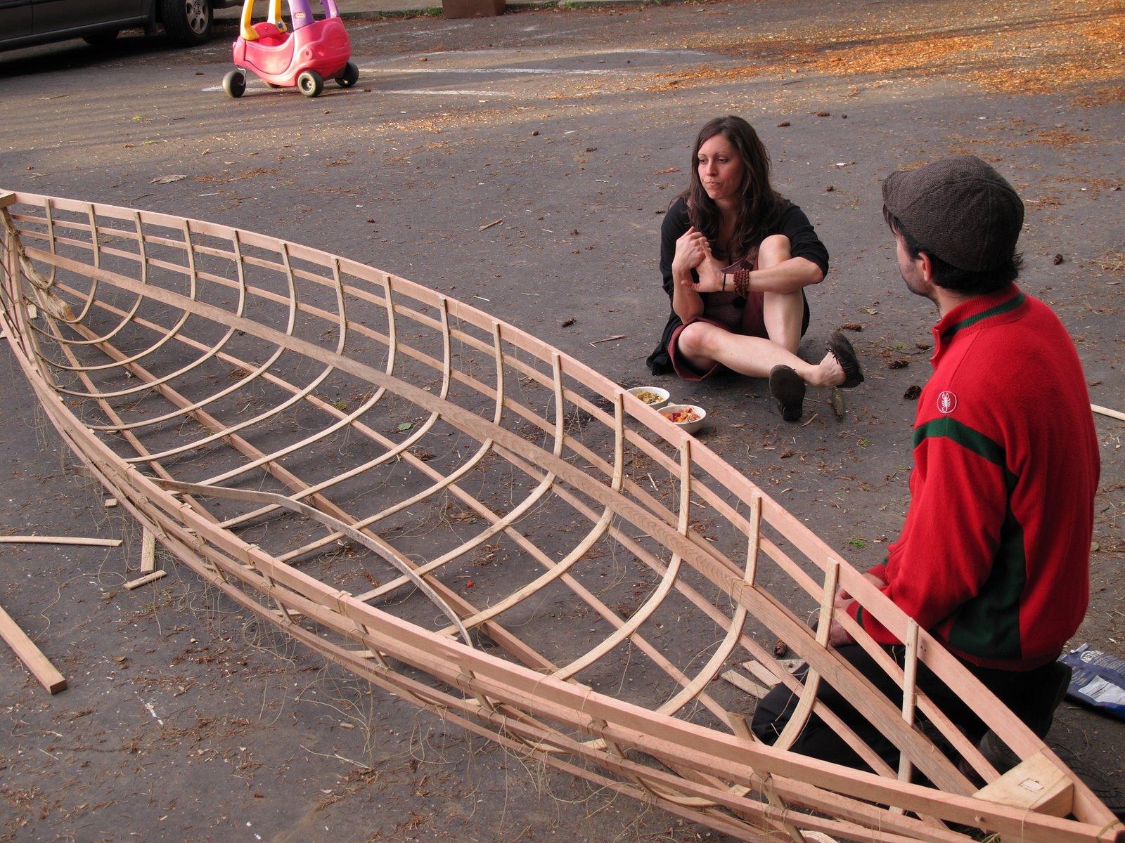 White boat: Free skin on frame canoe kits