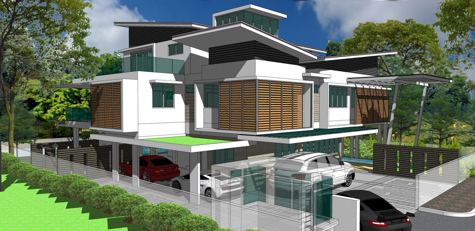 House Interior Design Modern House Roof Design Malaysia