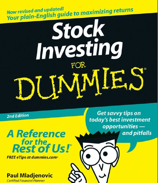 Stock options for dummies pdf free download
