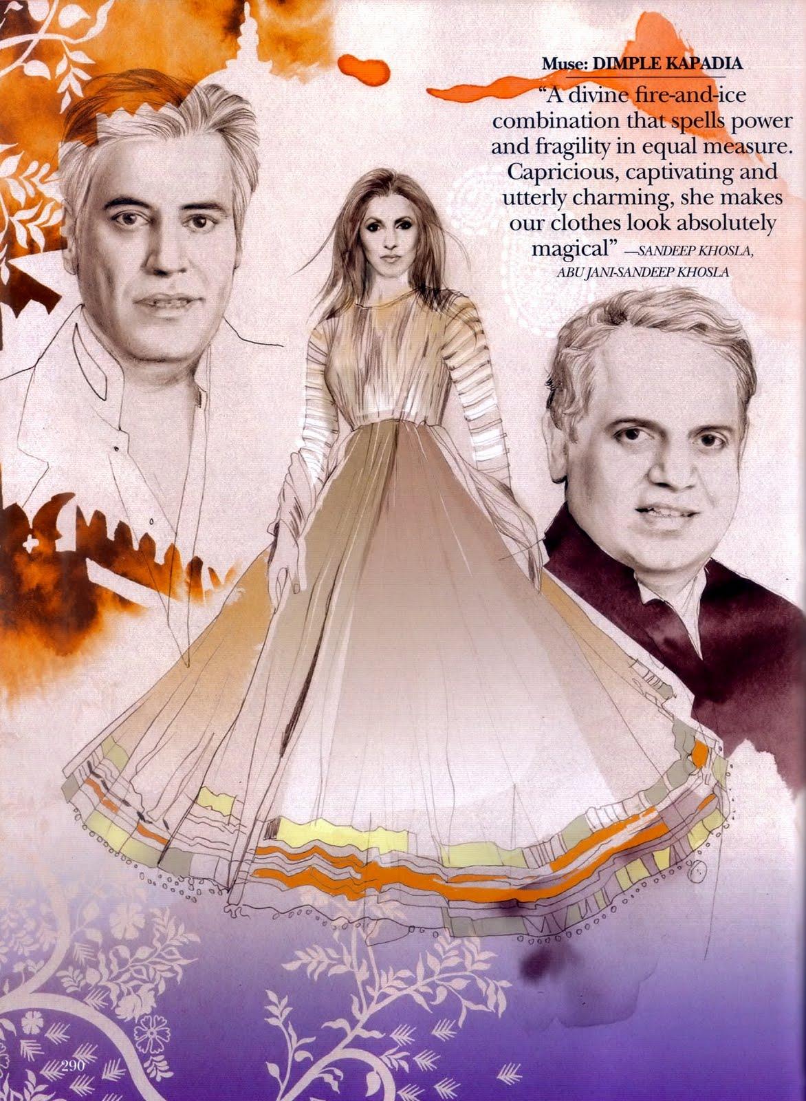 Elles sont une source d'inspiration pour les designer indien...