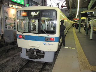 小田急線 快速急行 片瀬江ノ島行き3 8000形(江ノ島花火大会臨時運行)