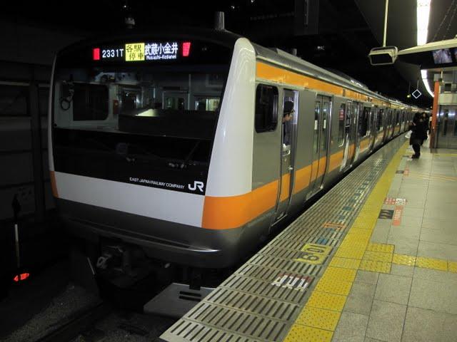 中央線各駅停車 武蔵小金井行き E231系(平日2本運行)