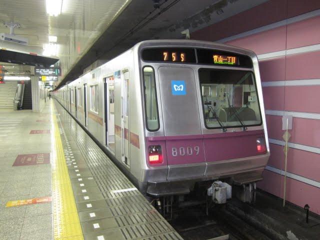 東京メトロ半蔵門線 青山一丁目行き 8000系(終電運行)