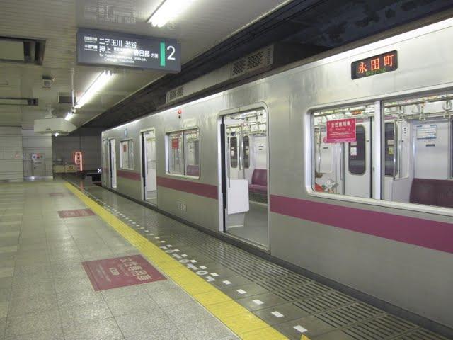 東京メトロ半蔵門線 永田町行き 8000系(終電運行)