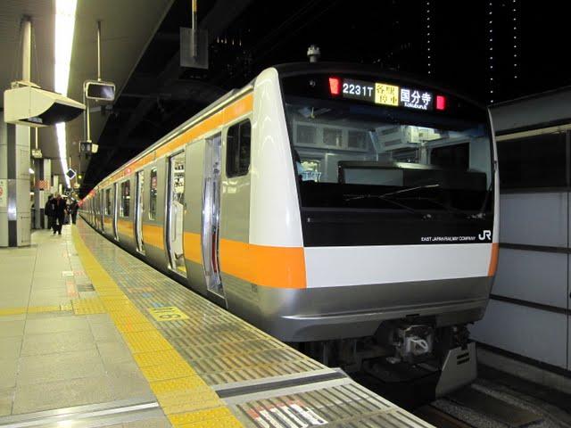 中央線各駅停車 国分寺行き E231系(土日1本運行)
