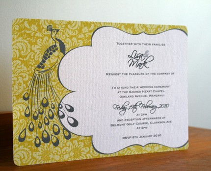 Labels Peacock Wedding Invitations
