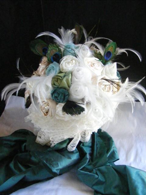PEACOCK WEDDING Bridal bouquet