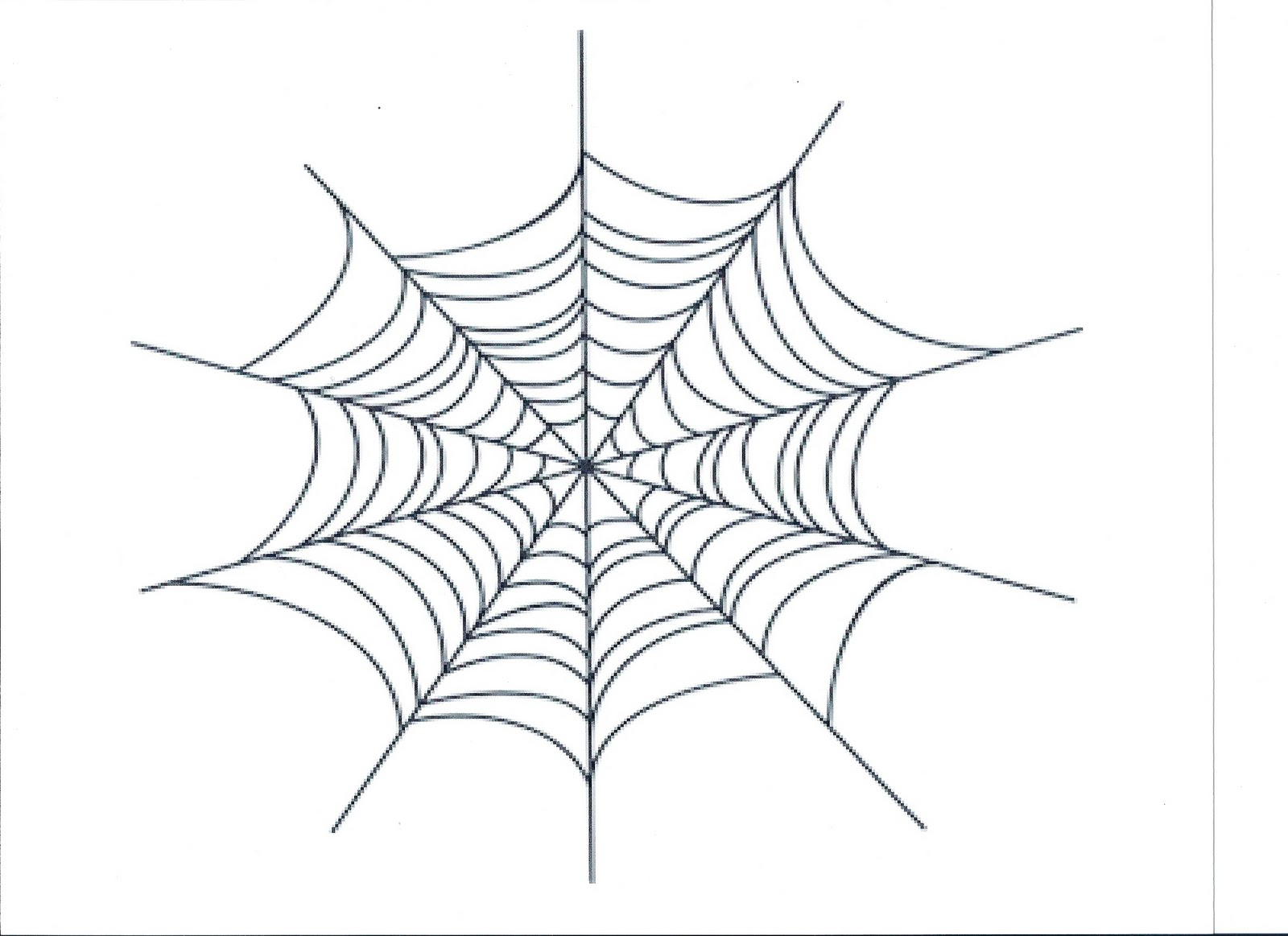 Spider in web drawing - photo#6