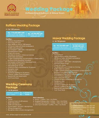 New Balai Kartini Wedding Package