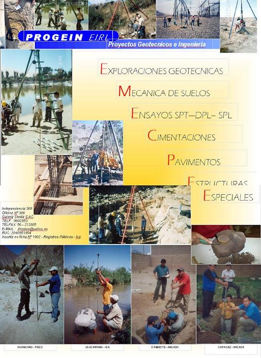 SERVICIOS:GEOTECNIA, GEOLOGIA, OTROS