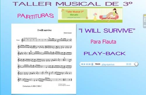 "partituras para flauta. ""I will survive"" para Flauta"