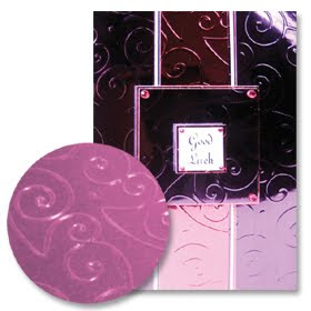 Hunkydory embossed mirri card