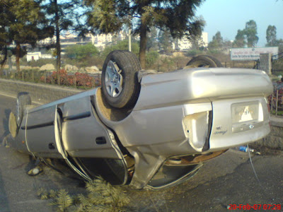 car accident Kodapur Madhapur Hyderbad