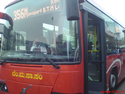 BMTC Bangalore B7RLE volvo city bus front view