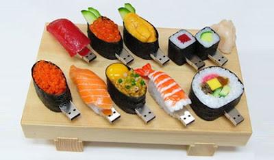 pendrive em forma de sushi