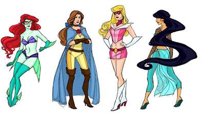 princesas da disney como super heroinas