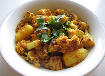 Cauliflower Bhaji with Spiced Basmati Rice