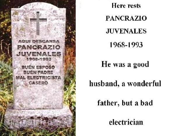 funny mexican pictures. Funny Mexican Grave Stones!