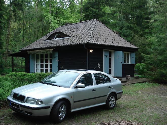 Unsere Jagdhütte, einsam im Wald