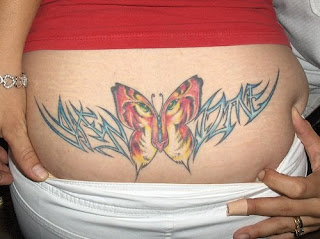 Lower Back Tattoos butterfly