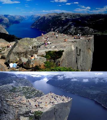 Pulpito o Preikestolen en Noruega