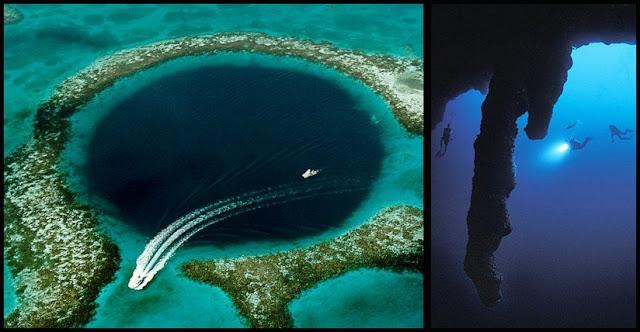 Gran agujero azul de coral en Belice
