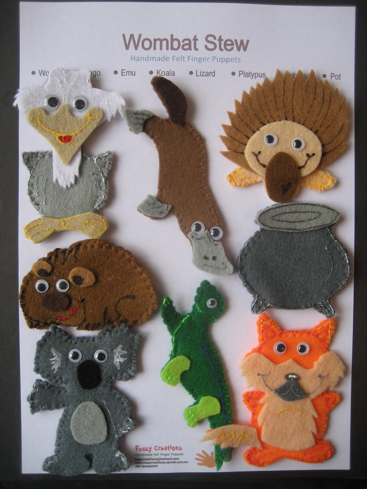 Wombat Stew Masks Templates - Yardarm.