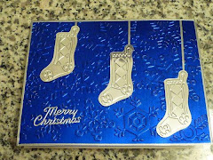 Foil Blue Stocking card