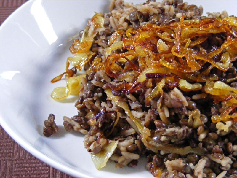 Delta Kitchen: Lentils and Rice with Fried Onions