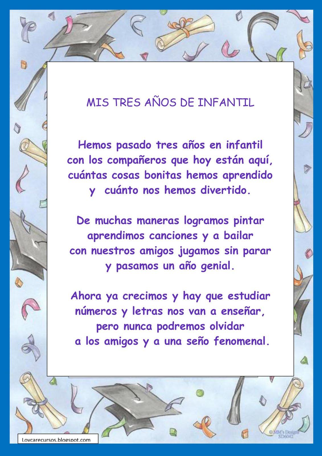 Poema De Graduacion De Preescolar