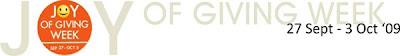 celebrate the joy of giving week