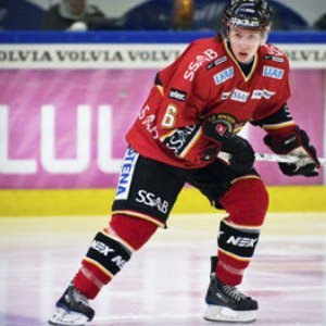 Blues' 2009 draftee Kristofer Bereglund takes a regular shift for Swedish Elite League club Luleå HC this season at age 19