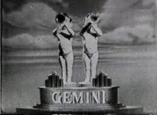 Gemini twins with bugles