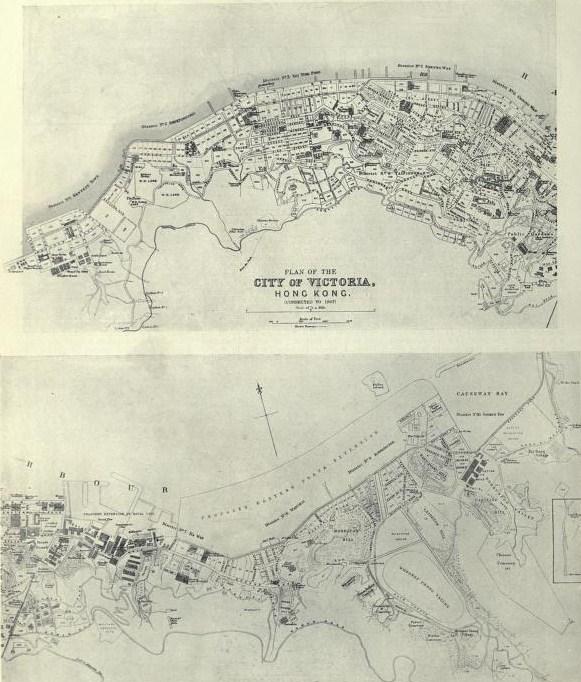 Hong Kongs First Maps And Surveys - China historical map 1890 1907