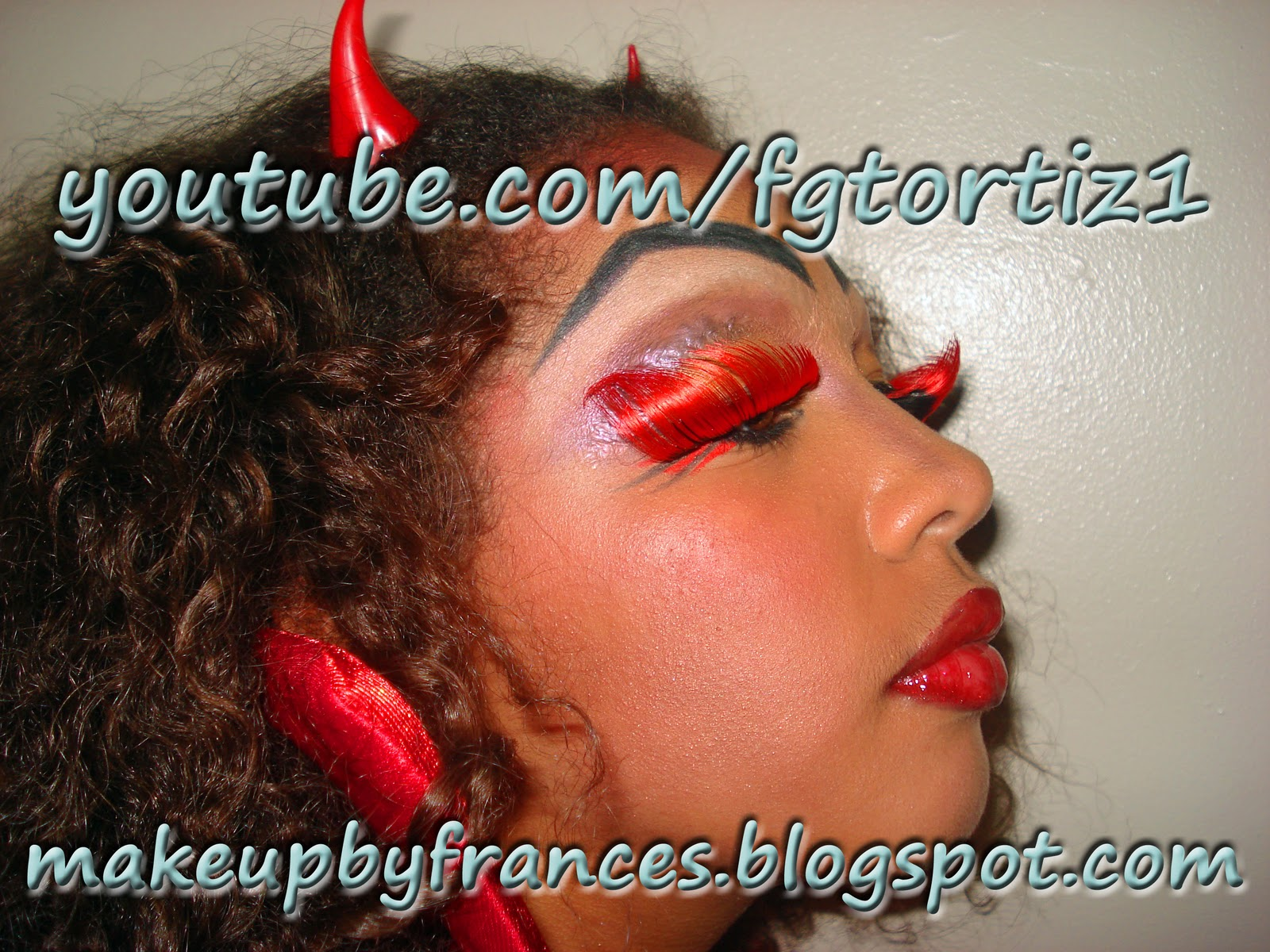 Joven Diablita Tutorial De Maquillaje De Diabla Para Jovenes Dia De - Como-maquillar-a-una-diabla
