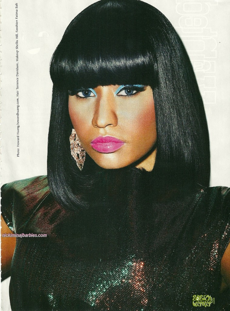 nicki minaj bedrock look. nicki minaj right through me