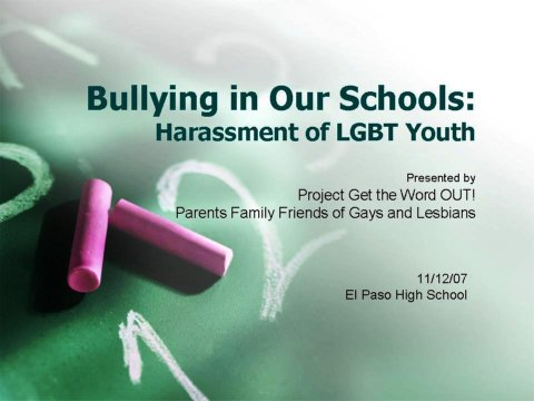 bullying and harassment among the lgbtq youth essay 1 bullying of lgbt youth and those perceived to have different sexual orientations what is bullying bullying is unwanted, aggressive behavior among school aged children.