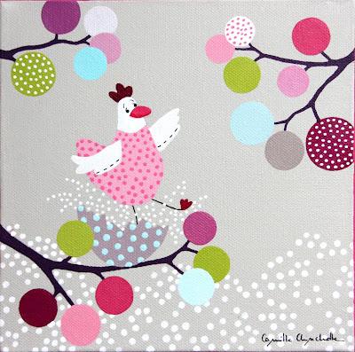 camille chincholle illustratrice tableau pour enfant petite poulette. Black Bedroom Furniture Sets. Home Design Ideas