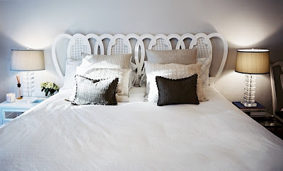 bedroom inspiration. beautiful headboard.
