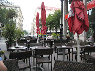 Viennese café on a tranquil Saturday morning