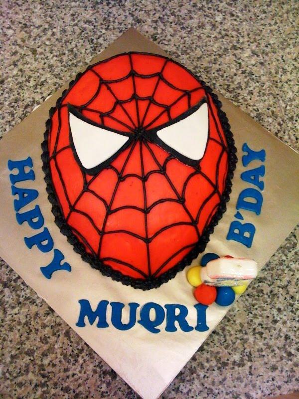 Spiderman Face Cake Design : Kids Fun Party: MUQRI s 3rd Birthday SPIDERMAN Waterplay ...