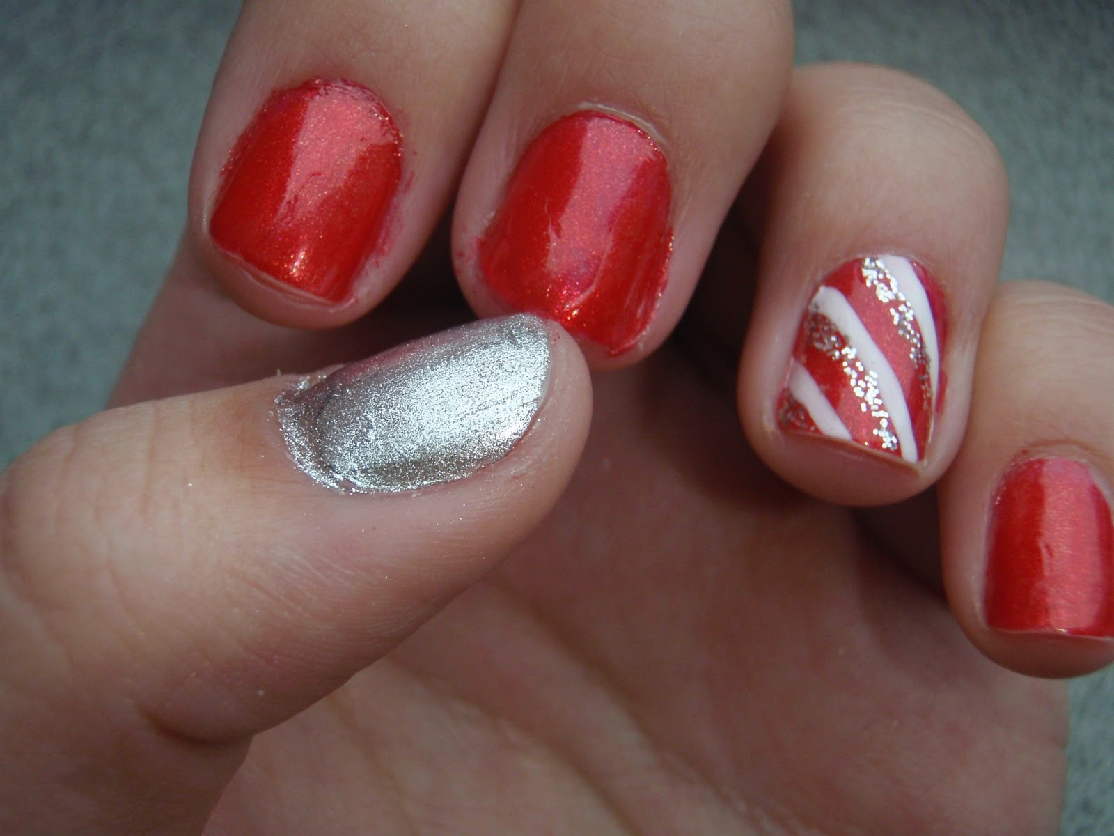 nail junkie candy cane nails