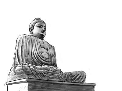 how to draw buddha body
